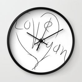 Love Vegan Wall Clock