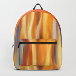 Yellow Flames Digital Oil Painting Backpack