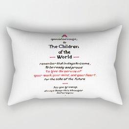 Message to Children Rectangular Pillow