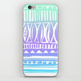 seafoam tribal print iPhone Skin
