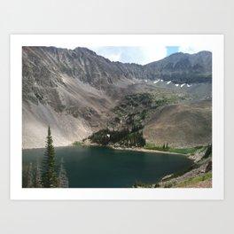 Lake Agnes Art Print