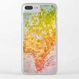 Colorful World Clear iPhone Case