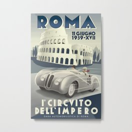 Roma Grand Prix Metal Print
