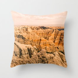 Sky Meets Rock-Badlands #3 Throw Pillow