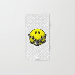 Quit Your Grinning / 3D chained up smiley Hand & Bath Towel
