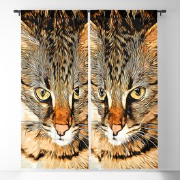 savannah cat portrait vastd Blackout Curtain