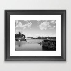 Crumbled Pier Framed Art Print