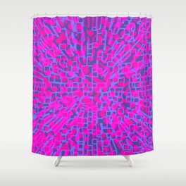 Hot pink hopscotch Shower Curtain