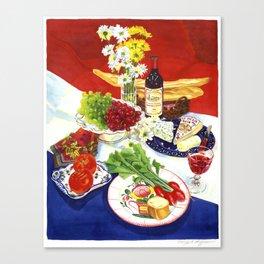 French Still Life Canvas Print
