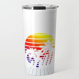 LO-FI Chill Hop Sunset Outrun Synthwave Vaporwave Aesthetic design Travel Mug