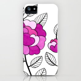 Rosette Mauve iPhone Case
