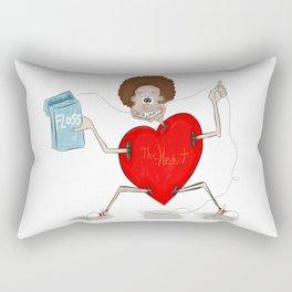 Floss and the heart Rectangular Pillow