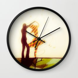Dancing with Persephone Wall Clock