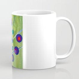 Polka dot peacock Coffee Mug