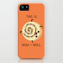 Cartwheeling Cinnamon Roll iPhone Case
