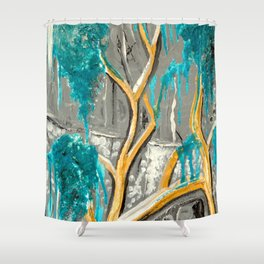 Resting Tree Shower Curtain