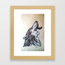 Western Wolf Framed Art Print
