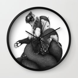 Weasel supremacy Wall Clock
