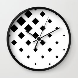 Fading Rombs Black And White Wall Clock