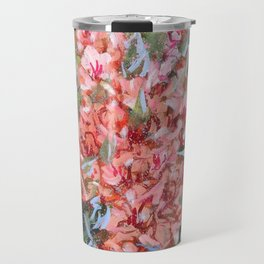 LET LIFE BE PASSIONATE LIKE SUMMER BOUGAINVILLEA-Original floral painting by HSIN LIN Travel Mug