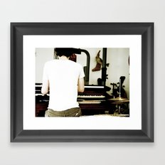 Play me a tune Framed Art Print