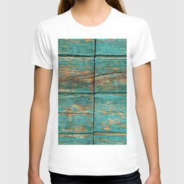 Rustic Teal Boards (Color) T-shirt