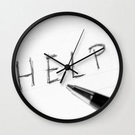 Pen Help Black White Wall Clock
