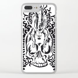 ONE INK SKULL Clear iPhone Case
