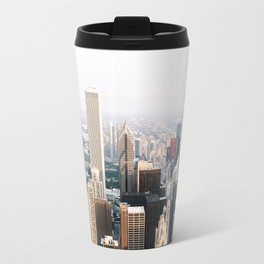 Chicago Illinois Aerial View Travel Mug
