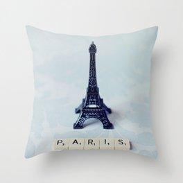 A Word about Paris  Throw Pillow