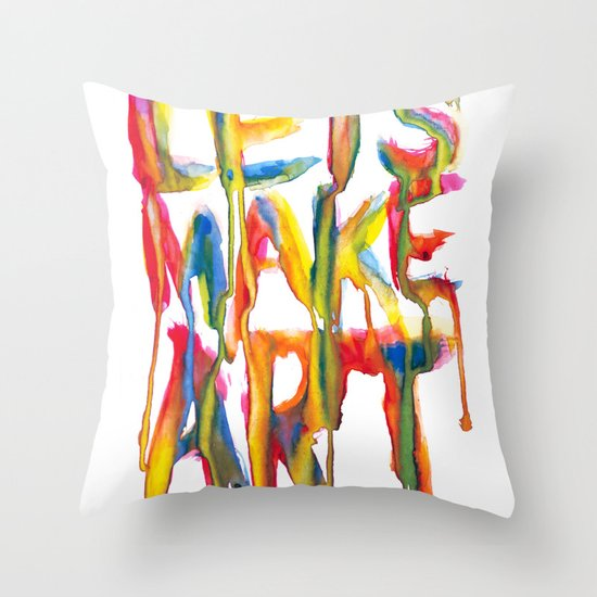 LET'S MAKE ART Throw Pillow
