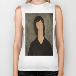 "Amedeo Modigliani ""Bust of a Woman"" Biker Tank"