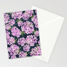 Alyssum - Navy & Pink Stationery Cards