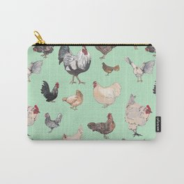 Chicken Happy (green) Carry-All Pouch
