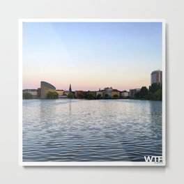 The Lakes Evening Metal Print