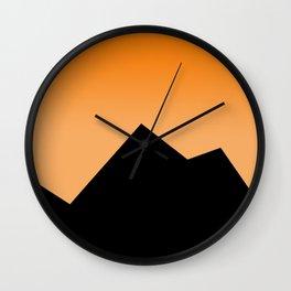 Mountains 3 Wall Clock
