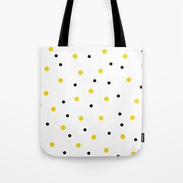 Seamless Black Yellow Dots Pattern Tote Bag