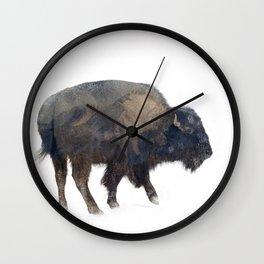 Where the Buffalo Roam Wall Clock
