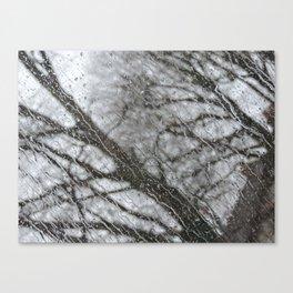 Dripping Window - Slant Canvas Print