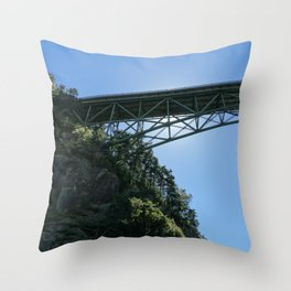 Pass Island Bridge Throw Pillow