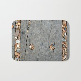 Beach Pebble Abstract Bath Mat