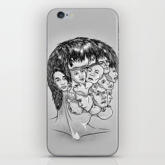 Face Lock BW iPhone & iPod Skin