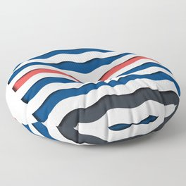 wave life pattern Floor Pillow
