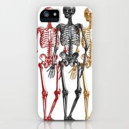 Skeleton Halloween Twins iPhone Case