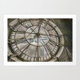Vintage Clock Tower Art Print