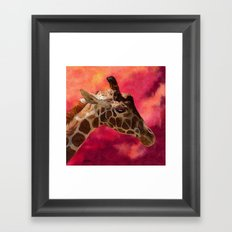 Giraffe - I Don't Want to Talk About It Framed Art Print