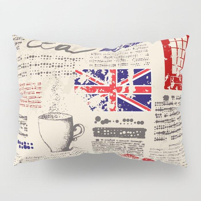 British newspaper style Pillow Sham