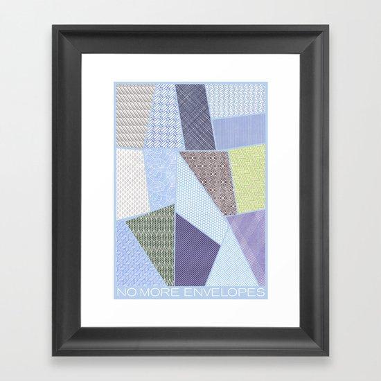 envelope series - 15 envelopes Framed Art Print