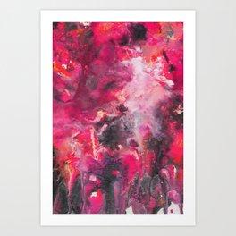 Pour Ultraviolet Pink Art Print