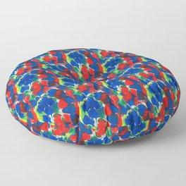 English Country Garden Floor Pillow